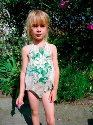 Swoon! Mimimyne Retro Swimsuit/Romper by Sally Hemphill