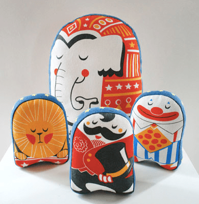 Stuf Circus Themed Soft Toys by Wry Baby