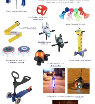 BG Christmas Gift Guide: scooter accessories