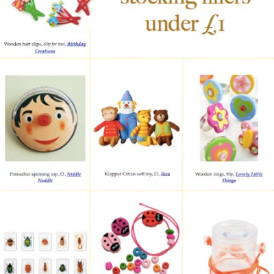 Almost 90 stocking filler ideas for babies to 5-year olds from just 40p