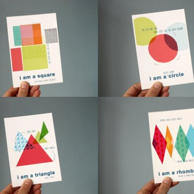 Mrs Eliot Books shapes postcards