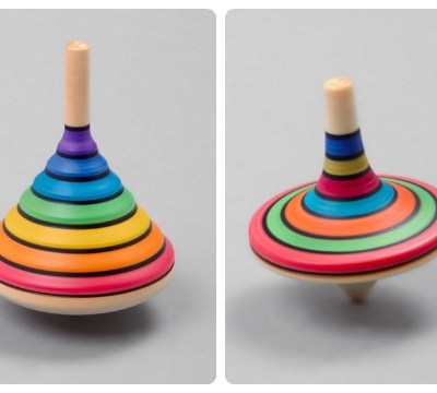 Rainbow Spinning Tops