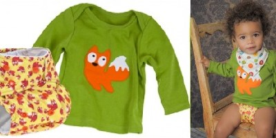 Baba+Boo woodland t-shirt and nappy sets