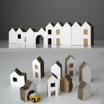 Michaela Horáčková cardboard houses