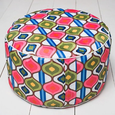 Outside pouffes from Big Bird's Boutique