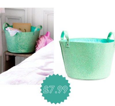 Glittery storage baskets by H&M