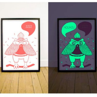 Glow in the dark owl prints by OMY Design & Play