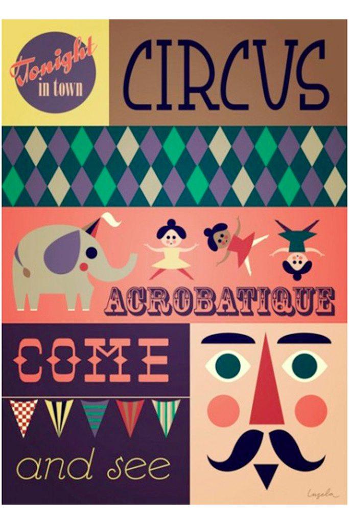 Acrobatique Circus poster by Ingela P Arrhenius