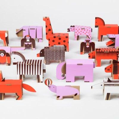 Papierowe Miasto cardboard animals