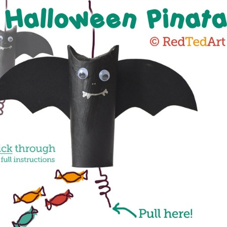 Bat Pinata from Red Ted Art