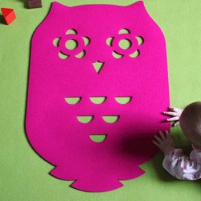 Selina Rose owl rug