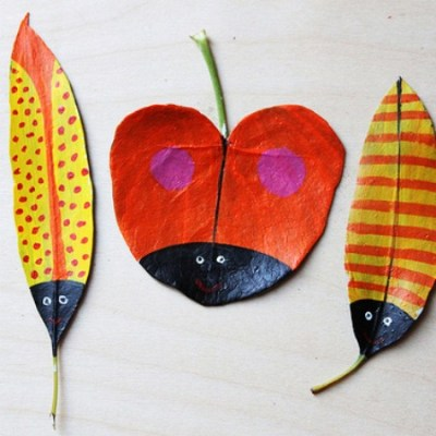 Make your own: Autumn leaf art