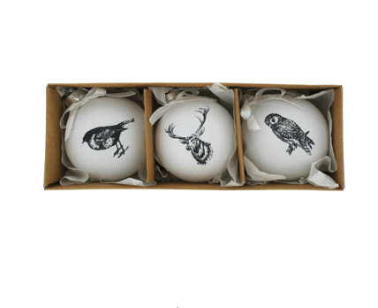 Paperchase ceramic baubles