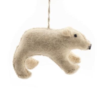 V&A felt polar bear