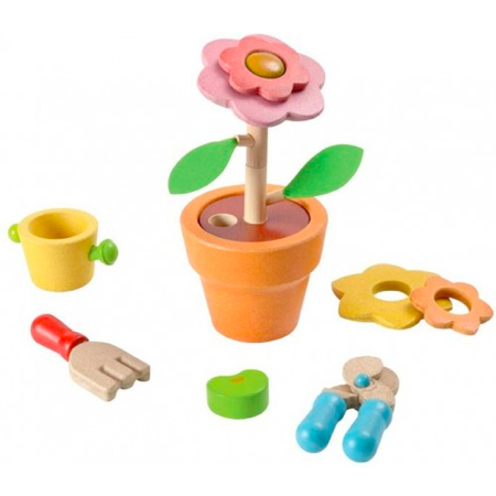 Plan Toys wooden flower set