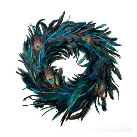 NHM Peacock feather wreath