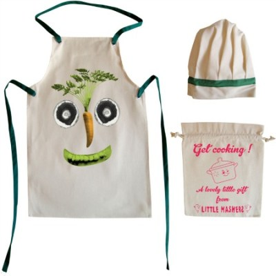 Cooking with kids: Little Mashers chef's hat and apron