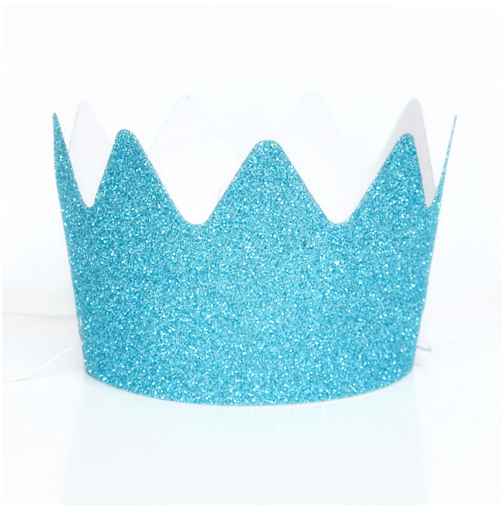Glitter party crown