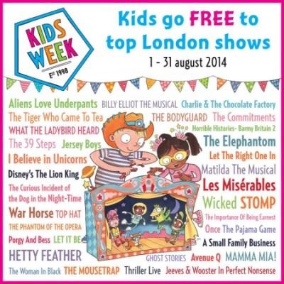 Kids Week – kids go free to top London shows