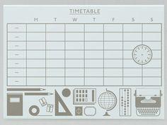 Present &  Correct timetable