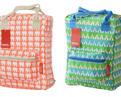 Engel teepee- and elephant-print backpacks