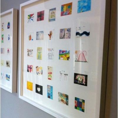 Inspiration: Make a framed collage of your child's artwork