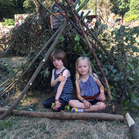 Den Building in The National Trust 50 Things Meadow