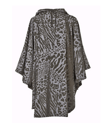 For mamas: Rain-wave animal print poncho