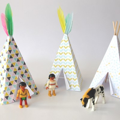 Cool Printable: Make a teepee for Playmobil figures