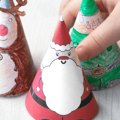 Easy Christmas Craft: Printable Characters