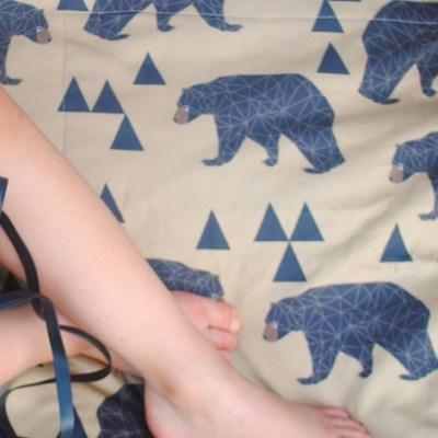 Covetable: Sewn Natural Picnic Blankets