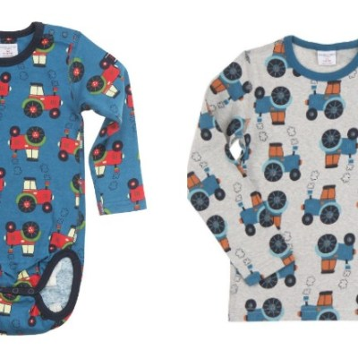 Sale Spot: Tractor Print Tees & Body Suits at Polarn O. Pyret