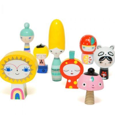 Petit Monkey Mr Sun and Friends wooden dolls