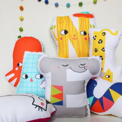 Julia Staite alphabet cushions