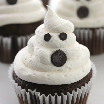 Make Your own: ghost cupcakes