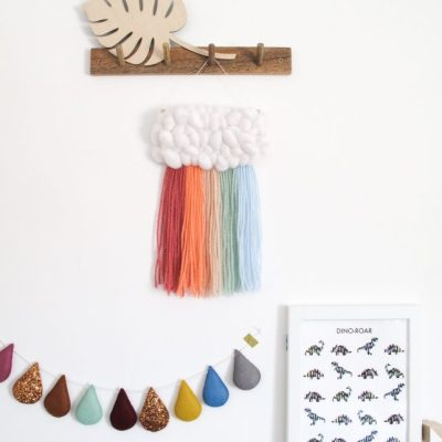 Never Perfect Studio rainbow wall hanging