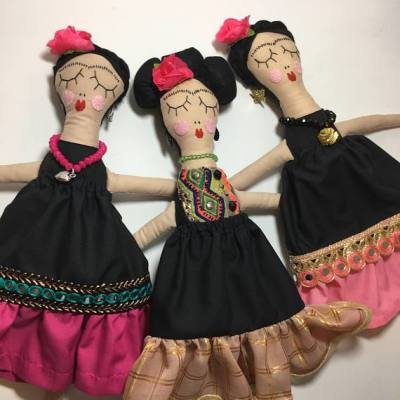 Rosie Girl Frida Kahlo doll