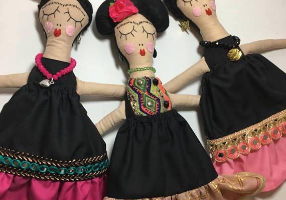 Rosie Girl Frida Kahlo doll