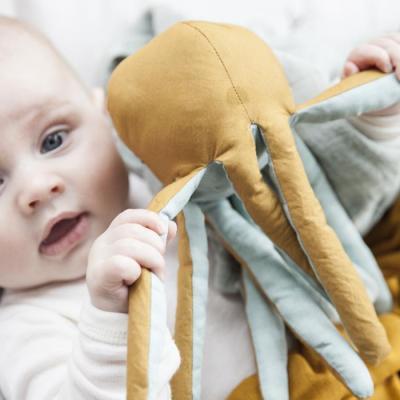 FABELAB Organic Octopus Baby Rattles