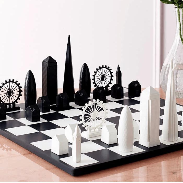 London Skyline Architectural Chess Set, £95, Skyline Chess.