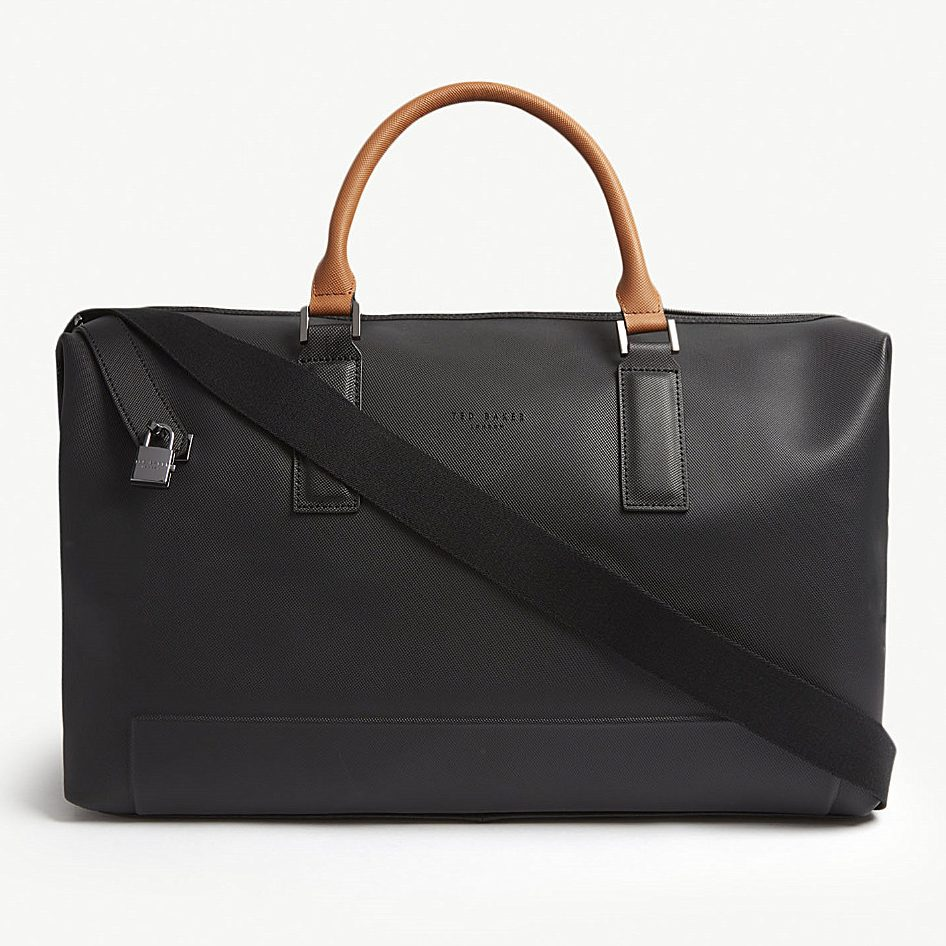 Ted Baker Potts perforated leather holdall, £319, Selfridges.