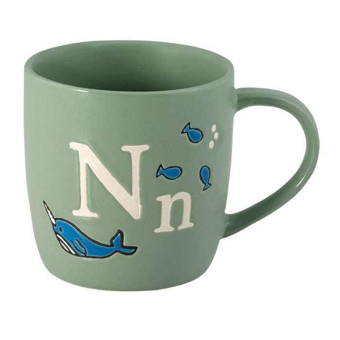 Alphabet mugs, £10, Cath Kidston.