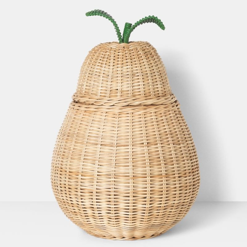 ferm living pear braided storage basket