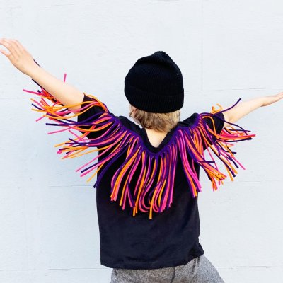 Zilla Kids fringed cape t-shirts