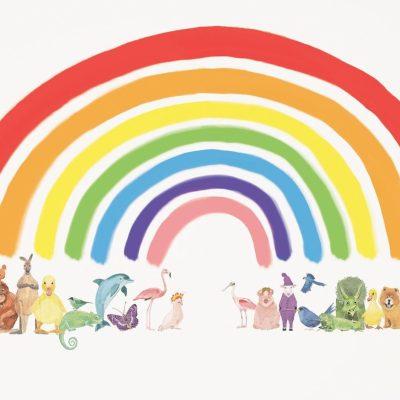 Animal rainbow print by Katie Viggers