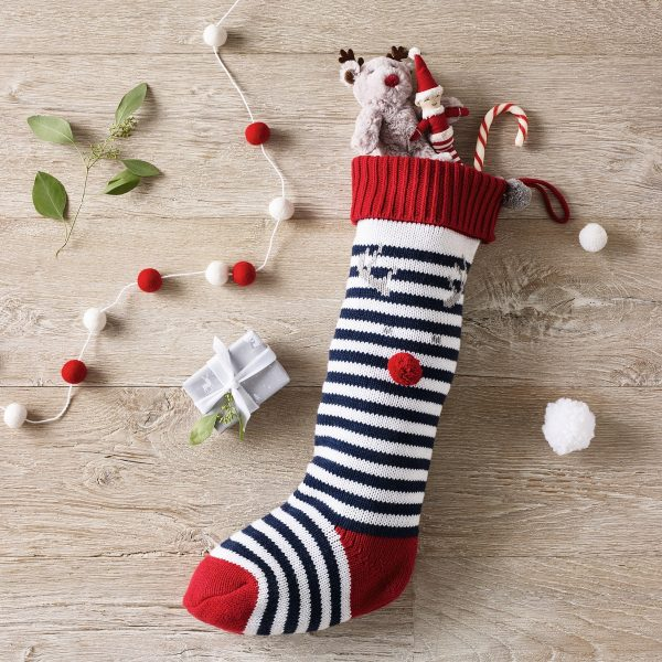 Jingles knitted stocking, £22, The White Company