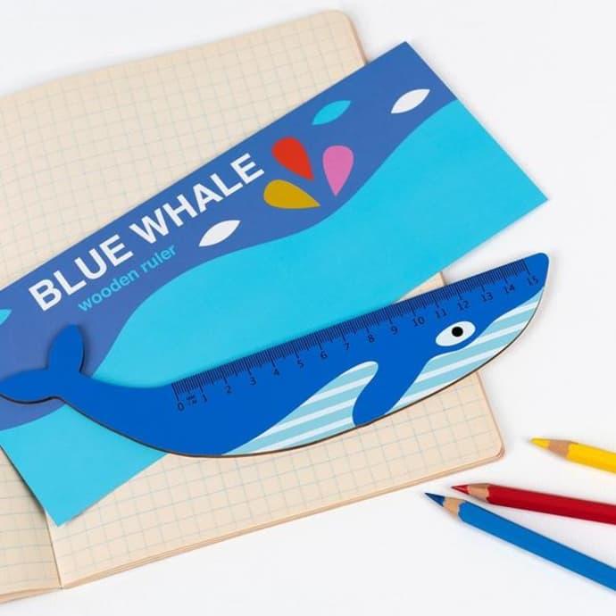 Blue Whale wooden ruler, £3.95, Rex London