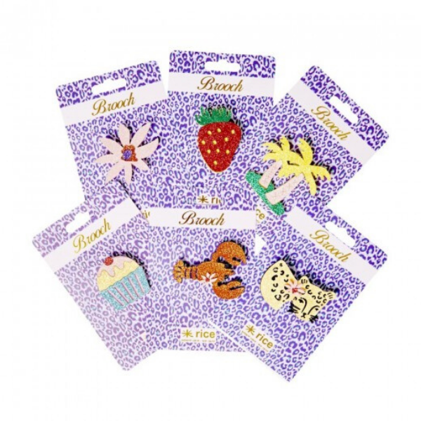 Rice DK glitter brooches, £2.99 each, Sisters Guild.