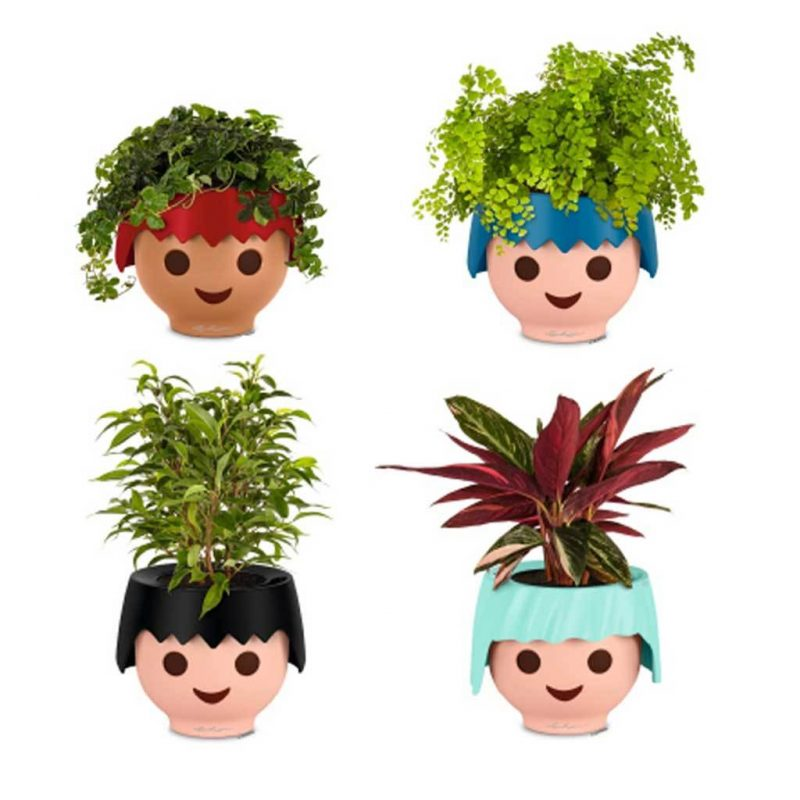 playmobil head pots