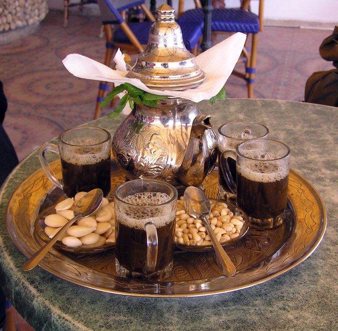 Picture of a typical Tea Set up in Tunisia.